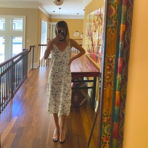 We are kindred silk midi floral dress